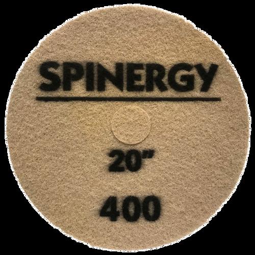 "Hydro-Force, Stone Polishing Pad, Spinergy, Black, 400 Grit, 20"""