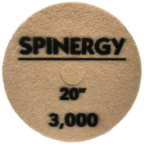 """Hydro-Force, Stone Polishing Pad, Spinergy, Blue, 3,000 Grit, 20"""""""