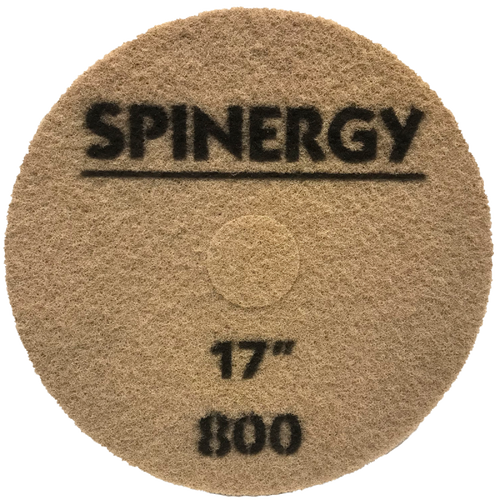 """Hydro-Force, Stone Polishing Pad, Spinergy, Red, 800 Grit, 17"""""""