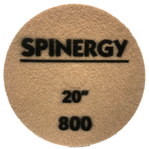 """Hydro-Force, Stone Polishing Pad, Spinergy, Red, 800 Grit, 20"""""""