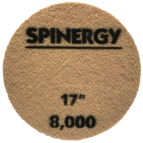 """Hydro-Force, Stone Polishing Pad, Spinergy, Yellow, 8,000 Grit, 17"""""""