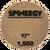 "Hydro-Force, Stone Polishing Pad, Spinergy, Purple, 1,500 Grit, 17"""