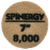 """Hydro-Force, Stone Polishing Pad, Spinergy, Yellow, 8,000 Grit, 7"""""""