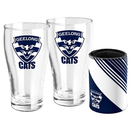 PINT GLASS AND CAN COOLER SET