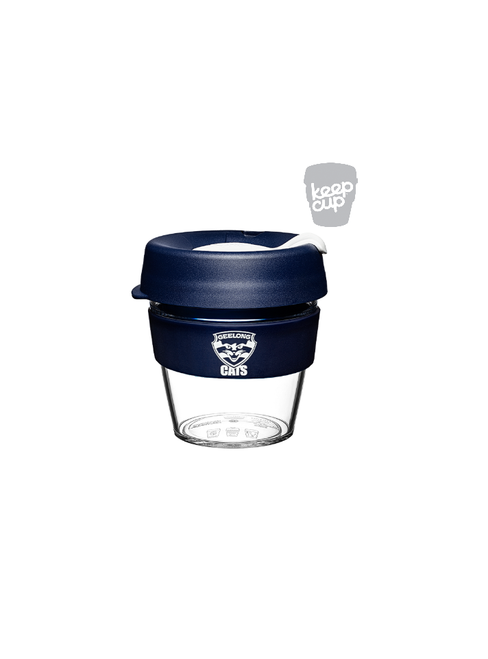 Geelong Cats Navy Glass KeepCup - Small