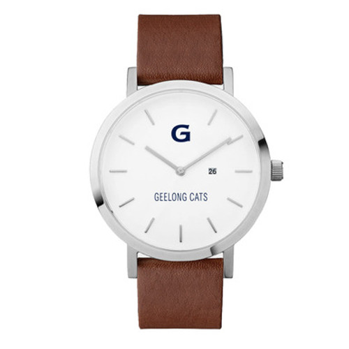 Leather G Watch - Tan