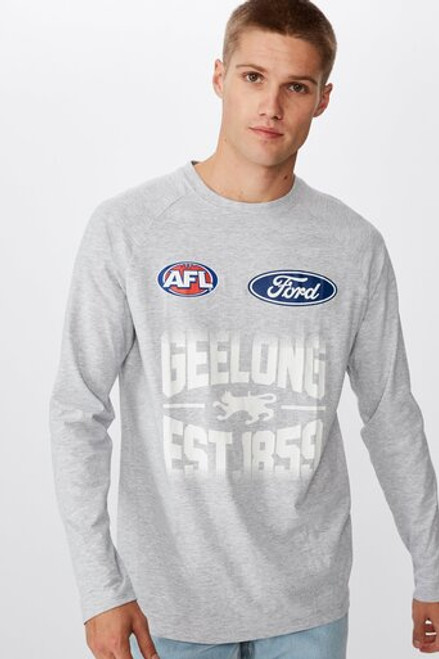 2020 Cotton On Mens Grey Long Sleeve Run Out Tee