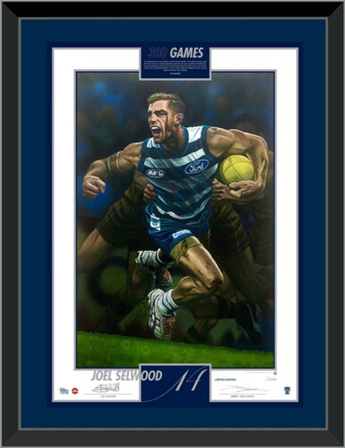 Joel Selwood 300 Game Signed Lithograph
