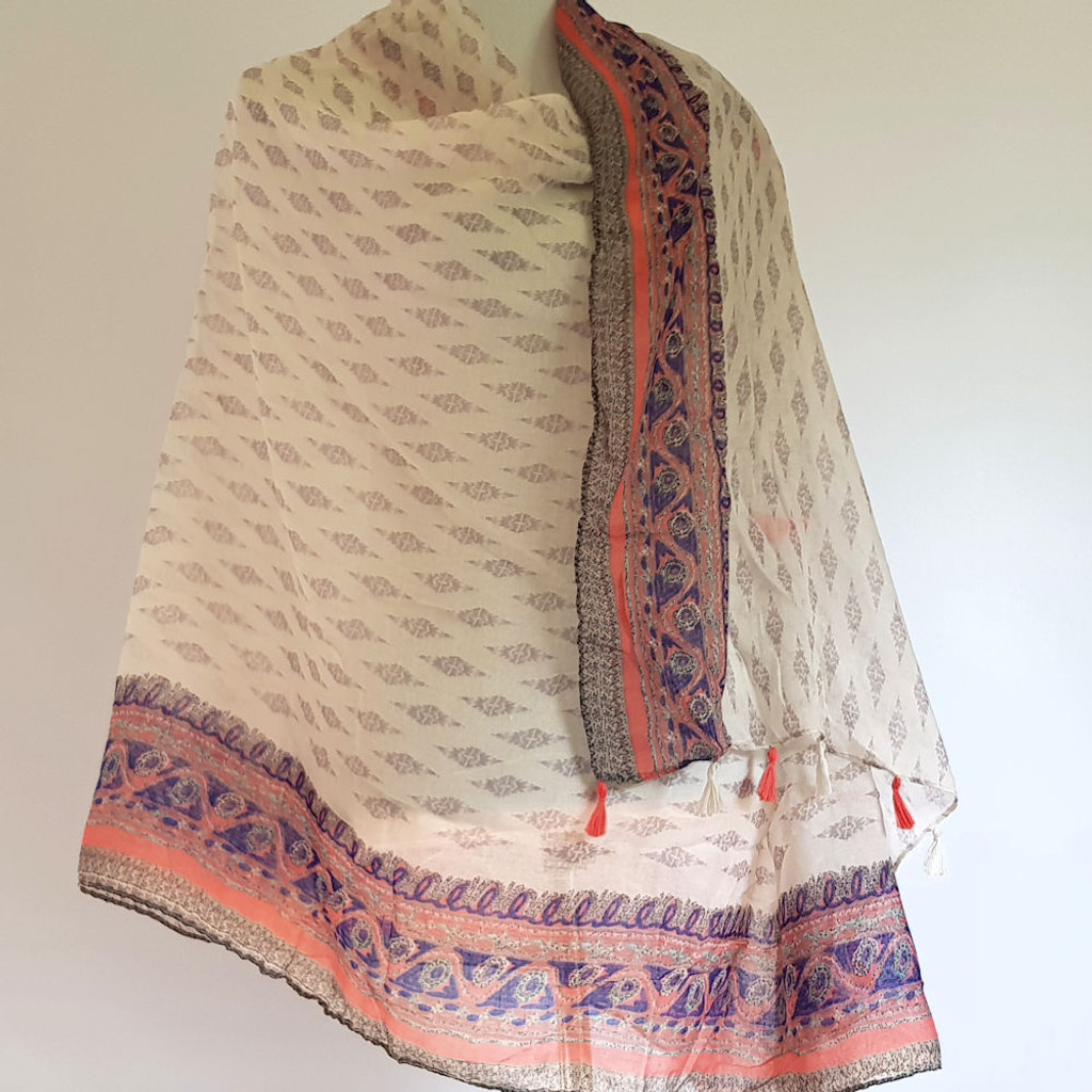 Healing Shawl - taupe diamonds