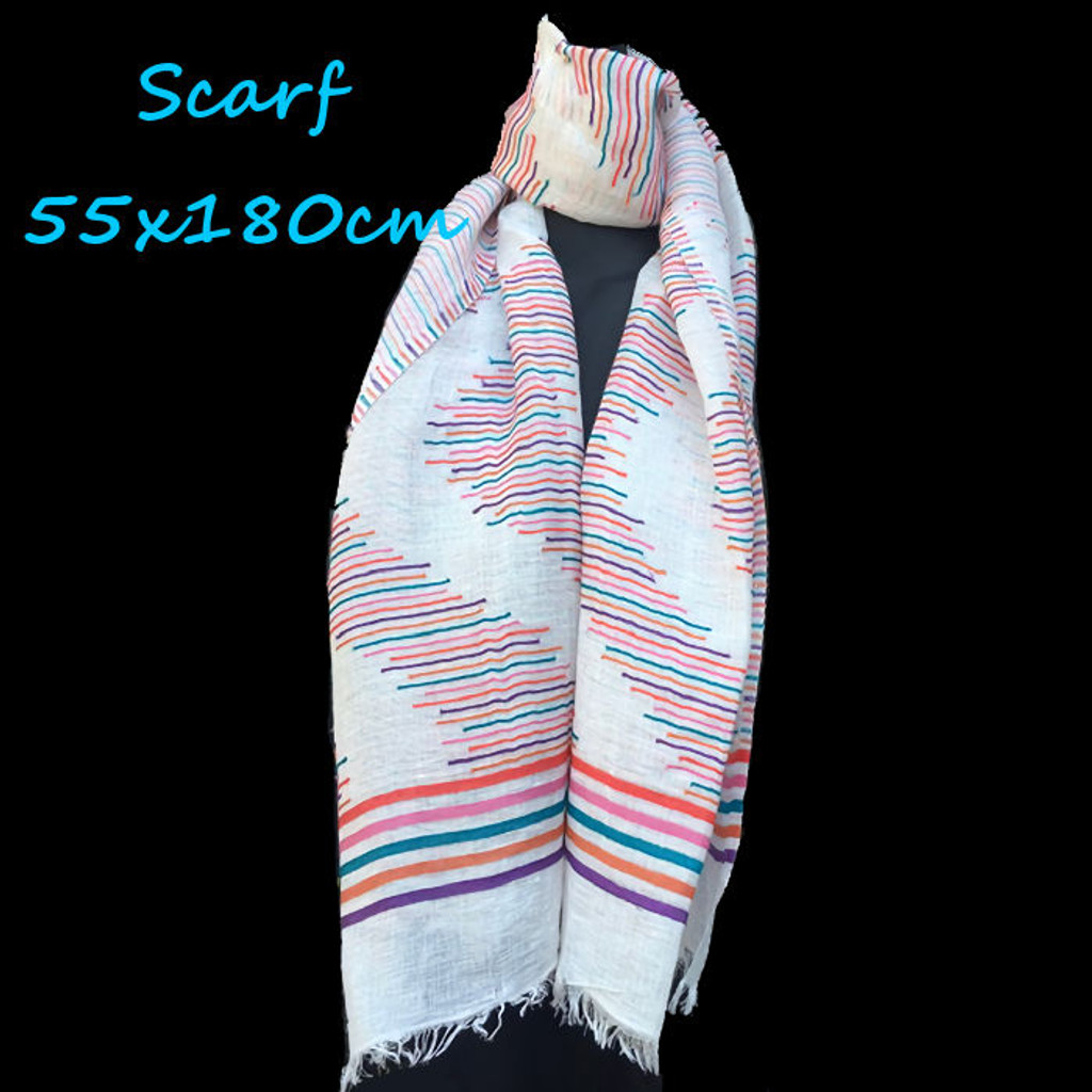 Healing Scarf - zig-zag stripe