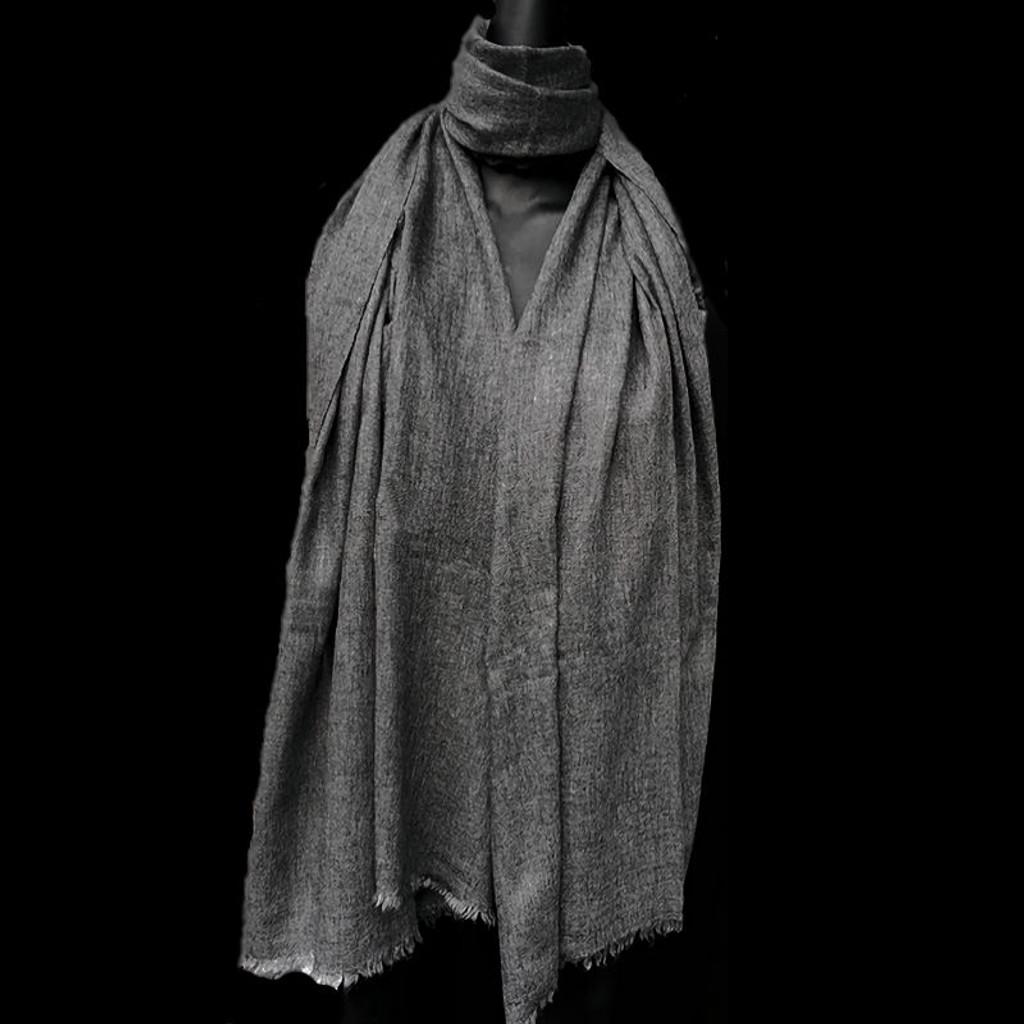 Healing Shawl - grey wool
