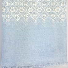Blue Embroidered Healing Shawl