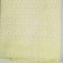 Yellow embroidered Healing Shawl