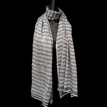 Healing Shawl - zig zag fine wool