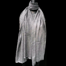 Healing Shawl - light grey wool