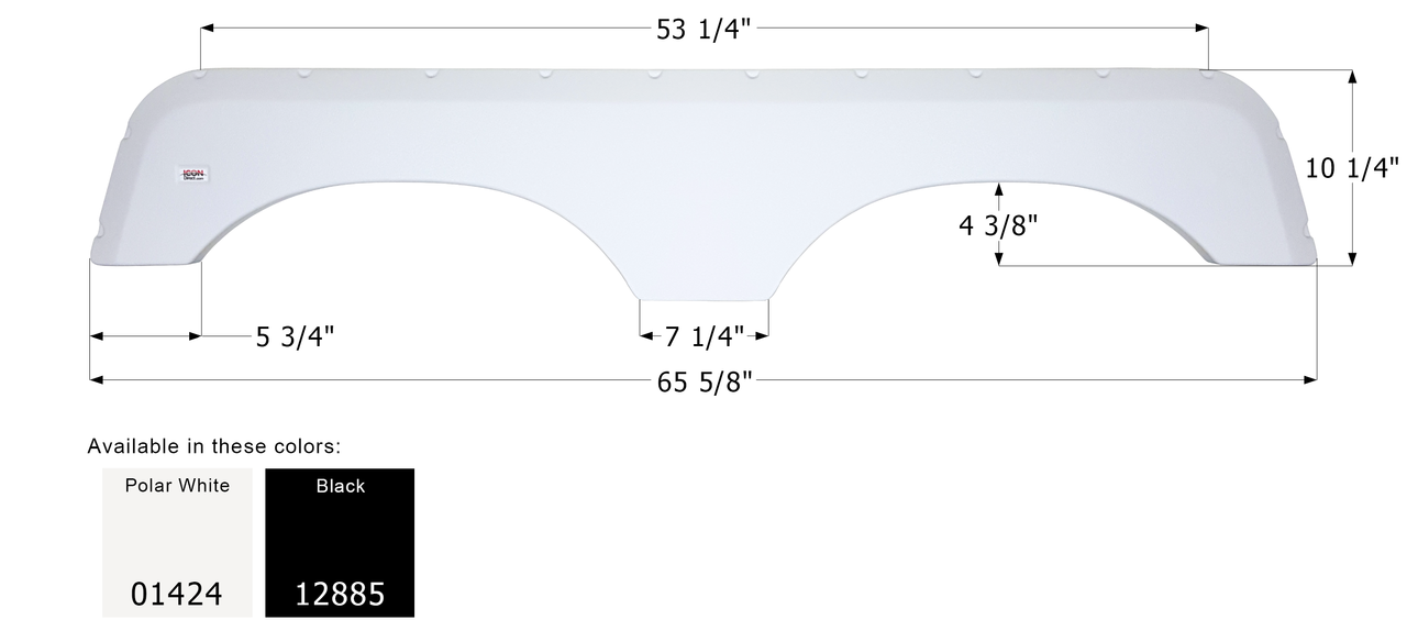 Taupe ICON R-Vision Tandem Fender Skirt FS765