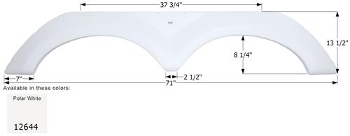 KZ Tandem Fender Skirt FS2644