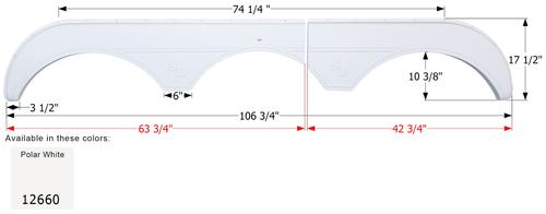 Sunnybrook Triple Fender Skirt FS2660