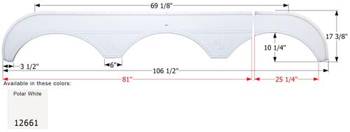 Sunnybrook Triple Fender Skirt FS2661