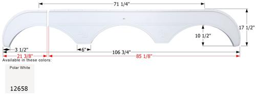 Sunnybrook Triple Fender Skirt FS2658