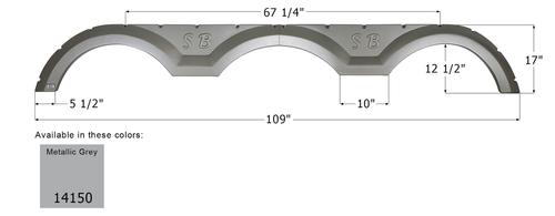 Sunnybrook Triple Fender Skirt FS4150