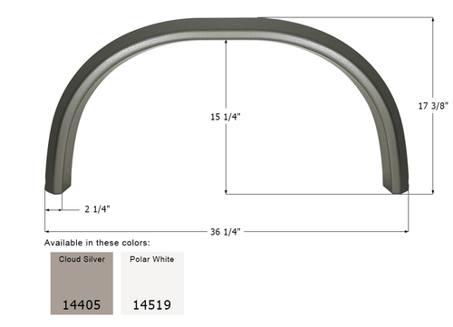 Forest River Single Fender Skirt FS4405