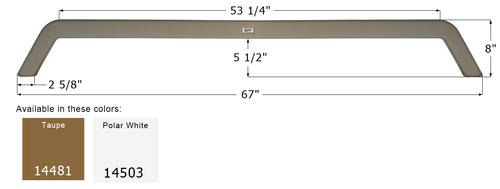 KZ Tandem Fender Skirt FS4481
