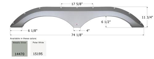 Frontier Tandem Fender Skirt FS4470