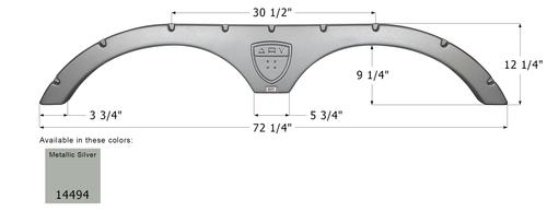 Augusta Tandem Fender Skirt FS4494