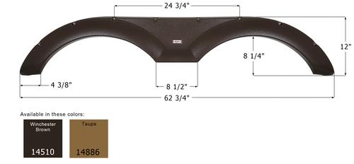 Forest River Tandem Fender Skirt FS4510