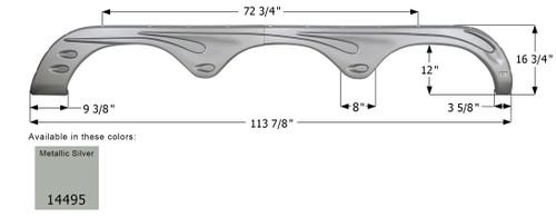Forest River Triple Axle Fender Skirt FS4495