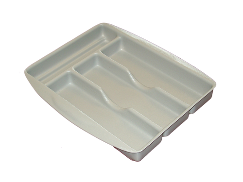 Sliding Cutlery Tray - Pewter Grey