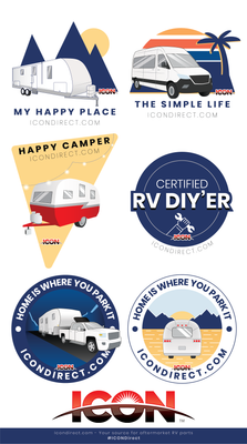 ICON RV'ing Sticker Collection 2021
