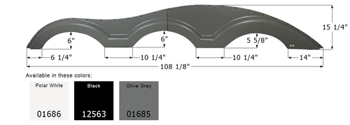Keystone Triple Axle Fender Skirt FS1000