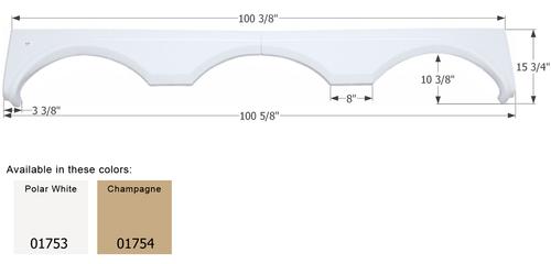 Gulf Stream Triple Axle Fender Skirt FS1753