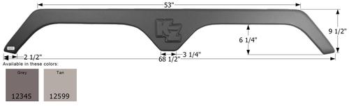 KZ Tandem Fender Skirt FS2345