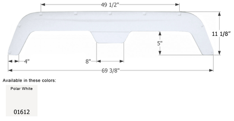 ICON Fleetwood Tandem Fender Skirt FS1811 Polar White