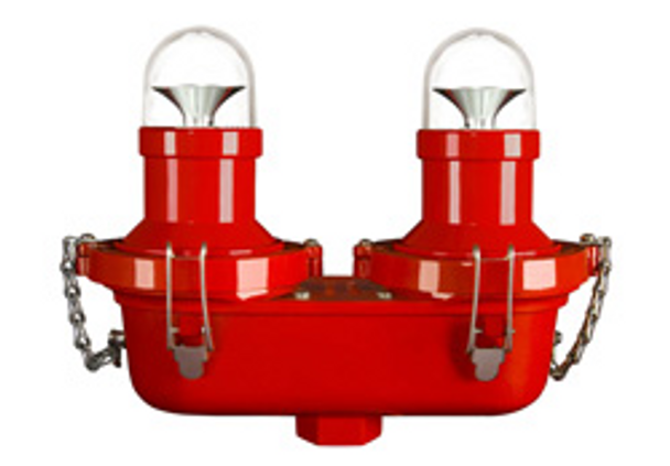 """H & P Horizon L-810 LED 95-277VAC Eje doble lateral 3/4 """""""