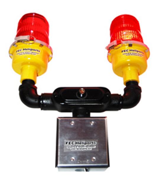 FEC LED Luces de obstrucción del montaje de poste rojo dual