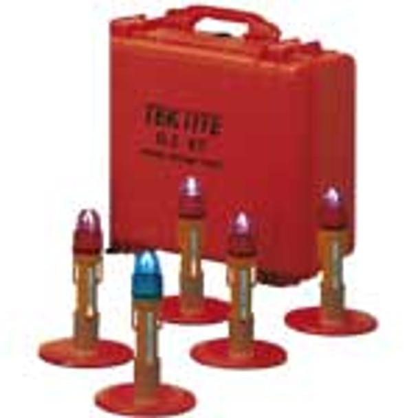 TEKTITE - Kit de seguridad de tráfico - TS5-7100-5 - Luces estroboscópicas portátiles