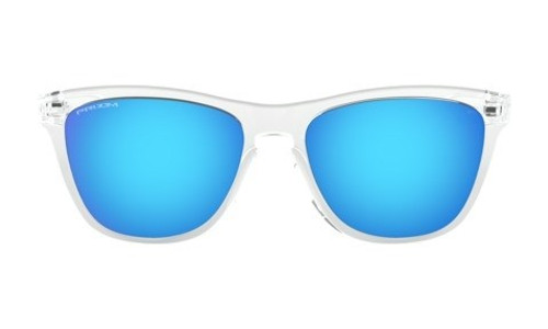 Oakley Frogskins Crystal Clear With Prizm Sapphire Lens