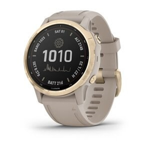 Garmin Fenix 6S Pro Solar Light Gold with Light Sand Band