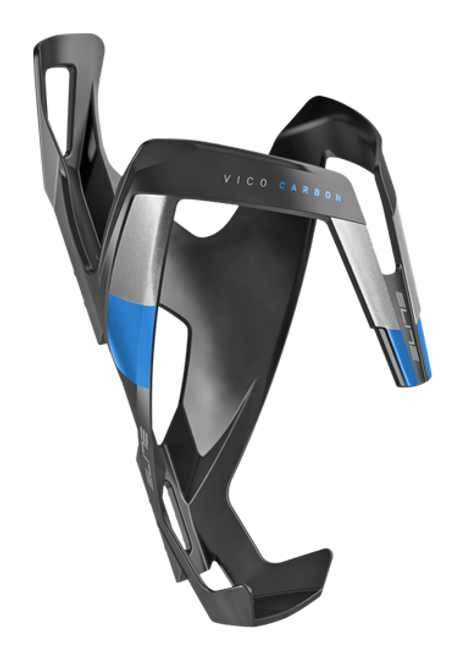 Elite Vico Carbon Cage - Matte Black/Blue