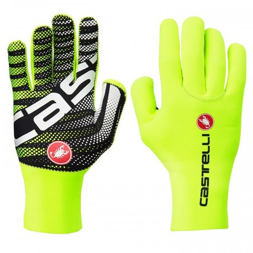 Castelli Diluvio Long Finger Glove Yellow
