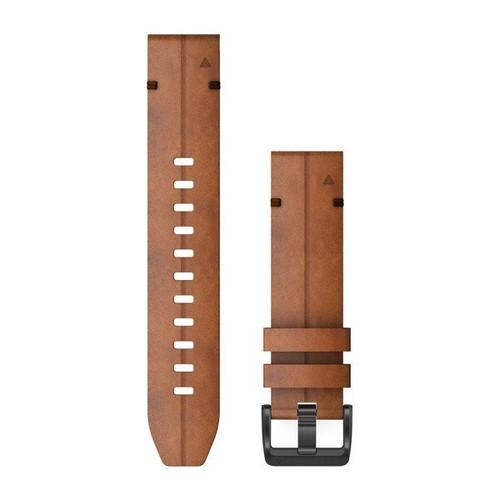 Garmin QuickFit 22 Watch Band Chestnut Leather