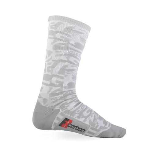 Giordana FR-C Tall Cuff Socks White/Light Grey