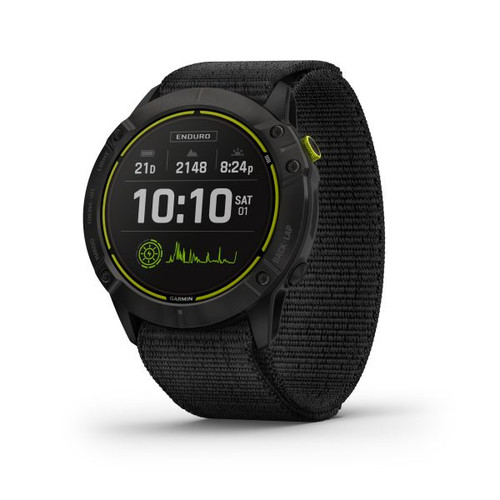 Garmin Enduro Carbon Grey DLC Titanium with Black UltraFit Nylon Strap