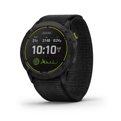 Garmin Enduro Carbon Grey DLC Titanium Watch with Black UltraFit Nylon Strap