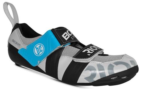 Bont Riot TR+ Shoe Silver/Black/Blue Size 40
