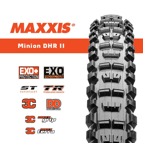 """Maxxis Minion DHR II 29"""" Tubeless Ready Foldable Tyre"""